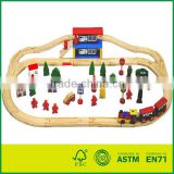 60pcs Wooden Railway Set