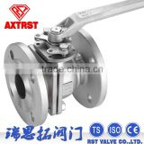 DIN standard 2pc Stainless Steel flange ball valve
