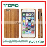 High Quality Pure Wood bamboo cell mobile phone back cover case for iPhone 5 5S se 6 6S plus