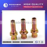 NPT male straight steel hose end fittings/hydraulic fitting
