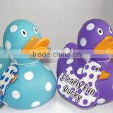 Speckled plastic duck