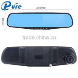 4.3 Inch Car Camera Recorder Dash Cam DVD Car Recorder Dash 140 Degree Camera Recorder Dual Lens Recorder