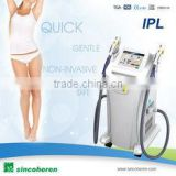 2014 Sincoheren latest SHR Hair Removal technology for All Skin Tones, Including Sensitive & Dark skin