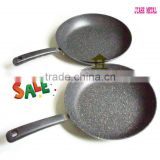 carbon steel divided non-stick stone coating fry pan