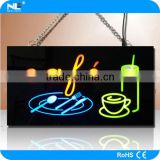 Outdoor LED cafe sign / open and welcome LED light up display board / full color LED advertising signs