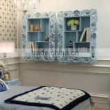 Light blue vanish BISNI European style wooden book wall closet design for kids bedroom - BF07-70356BC