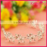 wholesale fashion white elegant flower bridal hair accessories with rhinestone for wedding decoration in bulk WHD-031