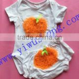 Fantasia Infantil 2Pieces/lot Baby Body 100% Cotton Cute orange Clothes Jumpsuit Carter summer baby Romper