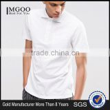 MGOO New Arrival Mens 2016 Apparel Polo Shirt Short Sleeves Plain Blank Pique Cotton Shirts