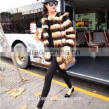 Casual Elegant Ladies Faux Fur Coats Winter Long Sleeve black and white strip Fur Coat Jacket Overcoat Short Design Outerwear