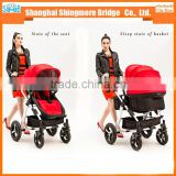 China baby stroller manufacturer best price wholesale luxury Aluminum Alloy frame baby stroller 3 in 1