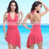 high quality classical wholesale solid color bikini sexy cover up beach dress beachwear