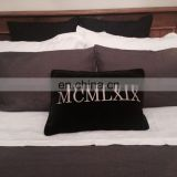 plain pure flax linen bedding sets popular with stone washing,in white ,gray color.
