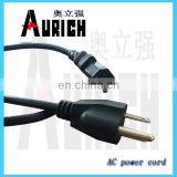SJOW cord with the EPDM insulation power cable electric wire UL Home PVC Power Cables 125V power cord extension cord
