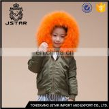 China Wholesale Winter Jackets Coat Kid Bomber Jacket with removable fur collar