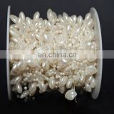 roll Ivory pearl string party garland wedding centerpieces bridal bouquet crafts decoration (pearl)