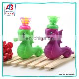 Hot sale hippocampus shape click plastic scoop catch ball game for children