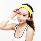 Solid color girls sport headbands towel hair band rainbow sweatband
