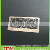 custom engraved logo metal plate , bookmark metal plate