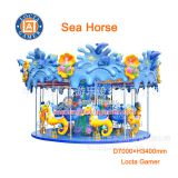 Zhongshan amusement park equipment, carousel hot sale outdoor and indoor, Sea Horses merry go round, for children
