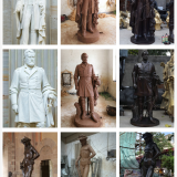 Bronze Brass Statue of Celebrity Famous Men From Chinese Bronze Statue factory