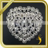 Wholesale bridal heart shaped crystal ornaments rhinestone brooches for women FB-083