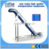 large angle inclined belt conveyor /incline chain conveyor/Stainless steel inclined belt conveyor