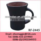 Flare Shape Matt Glazed Porcelain Wholesale Travel Coffee Carton Cup for Promotion Chalk Cup