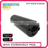 Best Transportation Components BMX CRMO Peg 14mm Axle for Street Bikes
