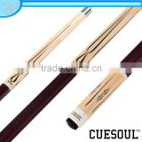 CUESOUL Latest Style Rubber Wrap Maple Shaft 1/2 Pool Cue,Quick Release,
