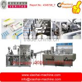 Chewing Gum , Milk Tablet Alu Pvc Blister Packing Into Cartoning Machine