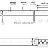 Huahong factory good price sale inclined screw conveyor