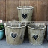 wholesale zakka wooden planter pots