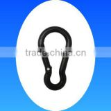 Plastic black carabiner climb keychain hook clips