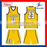 wholesale orange designs for blue basketball jersey yellow color