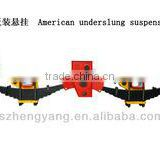 Semi Truck Part Factory 7 Leaf Spring Round Tandem Axle 13T American Mechanical Reyco Types Suspension For Trailer