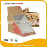 Factory of take away paper sandwich packaging box paper sandwich box with competitive price