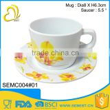 novelty custom printed melamine round tea cup sets