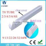 Brand New T8 Led Tube Lights 9W 13W 22W 44W 60W 4FT 1.2m-2.4m 4ft-8ft Single/Double row led tube integrated 180 Angle 6000-6500K                                                                         Quality Choice