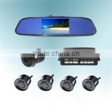Hot-selling backup camera 4.3 inch car rear view mirror reversing parking sensors with distacne