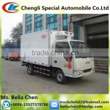 Frozen food refrigerated cold room van truck,JAC refrigerator truck for sale