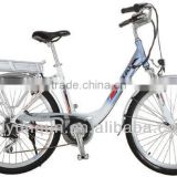 En15194 lady city electric bike with lithium battery / blushless geared motor bicycle for wholesale / YQ-2605A                                                                         Quality Choice