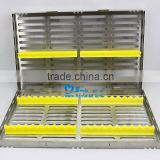 Stainless steel surgical instrument sterilization box