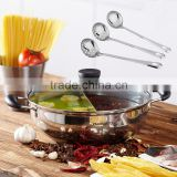 Durable casserole Stainless steel devided hot pot kitchenware