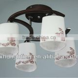 Modern ceiling Light or rectangle lamp shade chandelier or European lighting fixture with glass patern XD9008-4