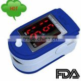 best seller Fingertip pulse oximeter with white,black , blue , light blue ,pink and yellow colors