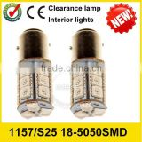 P21W tail light led car lighting 1157 1156 s25 18smd 5050 smd 12 volt dc led auto bulb china
