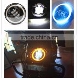 "5.75"" Projector Daymarker LED HeadLight Clear Lens led lamp With halo DRL Angel Eyes For Harley Motorcycle"