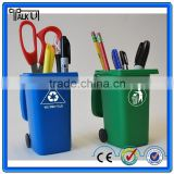 Hot sell recycled plastic mini trash can pen holder, office desktop Personalized trash can pen holder