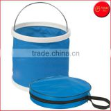 13L(3.4 Gal) Foldable Portable Collapsible Bucket Watertight Fabric No Leakage Portable Fishing Bucket With a Zippered Pouch